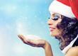 Christmas. Santa girl