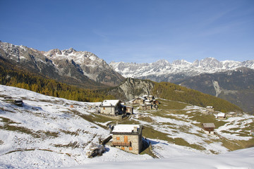 autunno all'alpe Piasci, Valmalenco