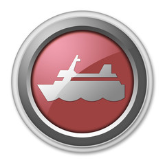 "Red 3D Style Button ""Cruise Liner"""