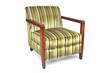Retro micro fiber and wood chair