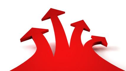 4 red arrows