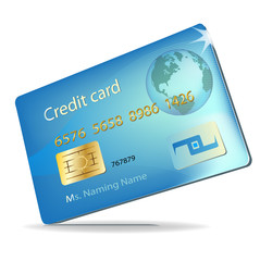 single credit card illustration