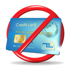 no credit card accepted sign/ credit card rejection