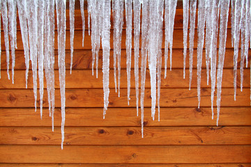 Icicles on a Cabin
