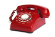 Hot Line Red Rotary Dial Phone - 36667579