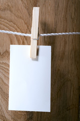 Photo paper attach to rope
