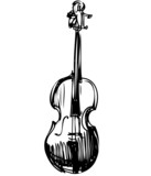 sketch of a stringed musical instrument orchestra violin poster