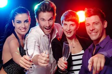 Young people having fun in nightclub