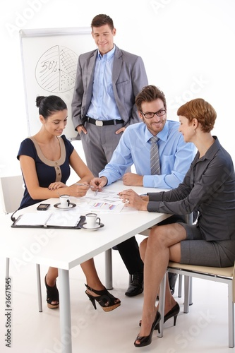 Teamwork in meetingroom