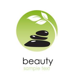 Logo spa. Beauty farm in green # vector