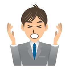 ビジネスマン A 表情3 失敗