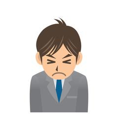 ビジネスマン A 表情3 我慢