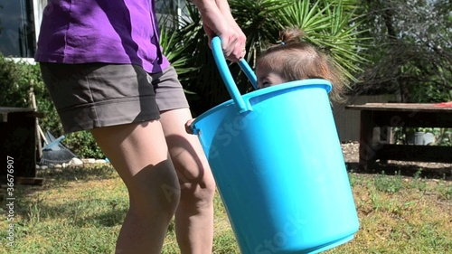 Child in bucket