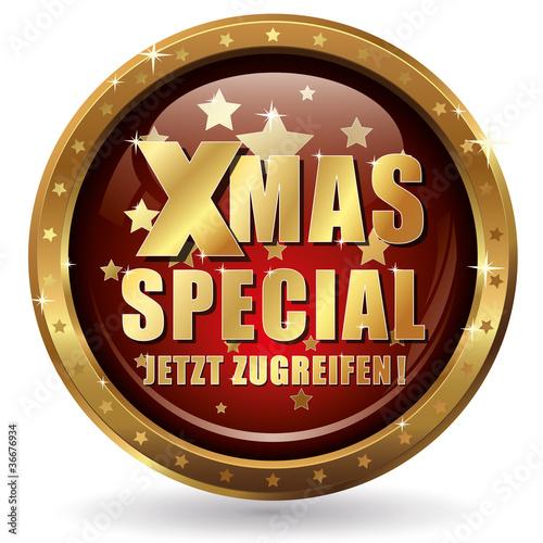 Xmas Special - Jetzt zugreifen! - Button gold