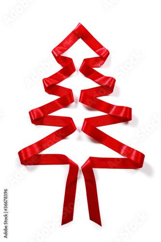 roter weihnachtsbaum mit schleife stockfotos und. Black Bedroom Furniture Sets. Home Design Ideas