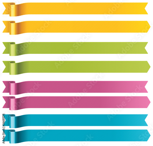 Vector long ribbons