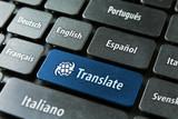 Fototapety Online translation service concept