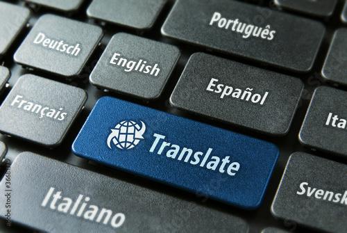 Online-Übersetzungsservice-Konzept