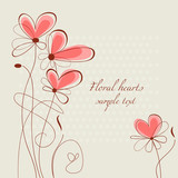 Fototapety Floral hearts ornament