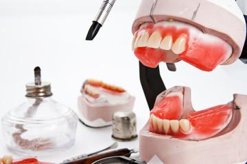 Dental lab articulator and equipments for denture