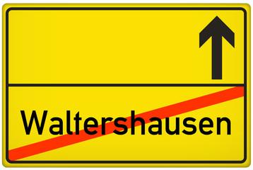 Ortsausgangsschild Stadt Waltershausen