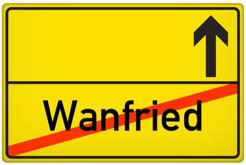 Ortsausgangsschild Stadt Wanfried