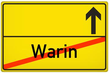 Ortsausgangsschild Stadt Warin