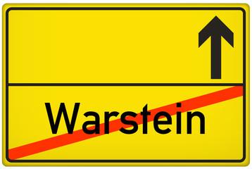 Ortsausgangsschild Stadt Warstein
