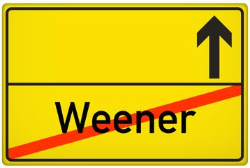 Ortsausgangsschild Stadt Weener