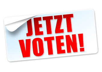Jetzt voten! Button, Icon