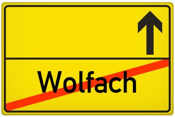 Stadt Wolfach Ortsausgangsschild