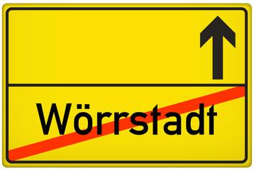 Ortsausgangsschild Stadt Wörrstadt