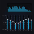 Vector illustration of digital equalizer