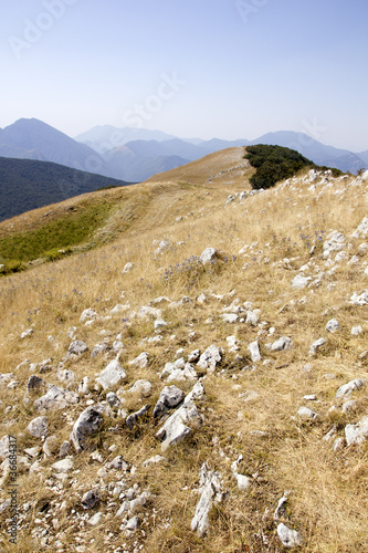 view of Basilicata's mountains