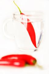 chilli in der tasse