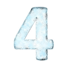 Icing alphabet the number 4