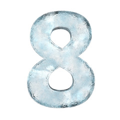 Icing alphabet the number 8