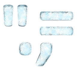 Icing alphabet the sign