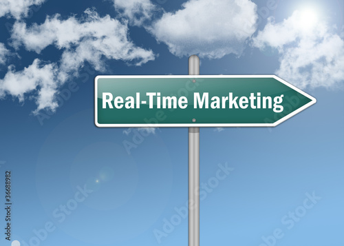 "Signpost ""Real-Time Marketing"""