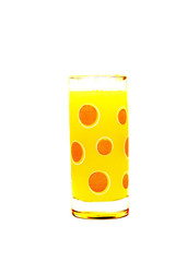 juice in glass ( isolated , vertical)