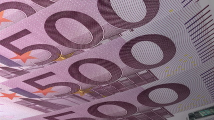Texture Design 500 Euro Banknotes, looping.