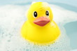 Bath time and rubber duck