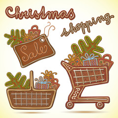 Christmas sale icons