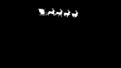 Santa Claus with reindeer - best for SCREEN mode