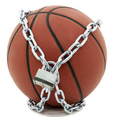 Basketball with Lock And Chains