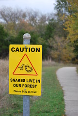 Snake Sign Warning
