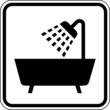 Dusche Badezimmer Badewanne Schild Zeichen Symbol