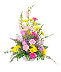 Colorful fresh flower arrangement centerpiece