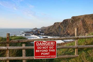 Cliff edge danger