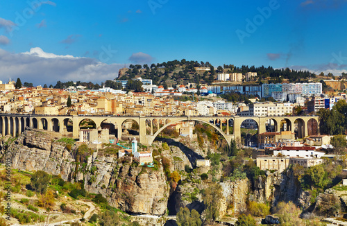 In de dag Algerije Constantine city, Algeria